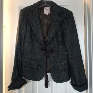 Nanette Lenore gray tweed suit